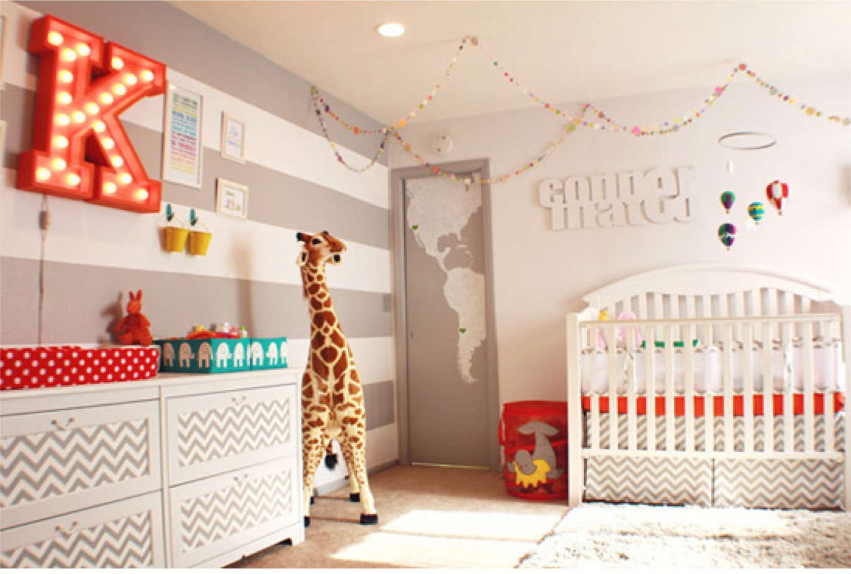 modern circus nursery