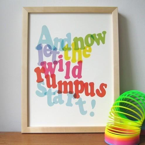 wild rumpus print