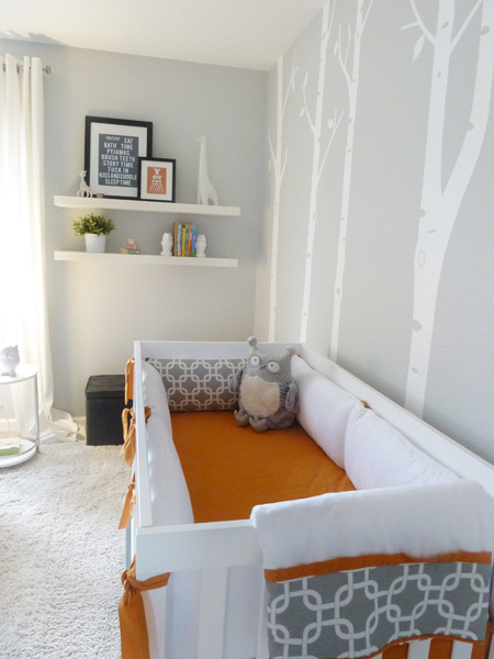 gray & orange nursery