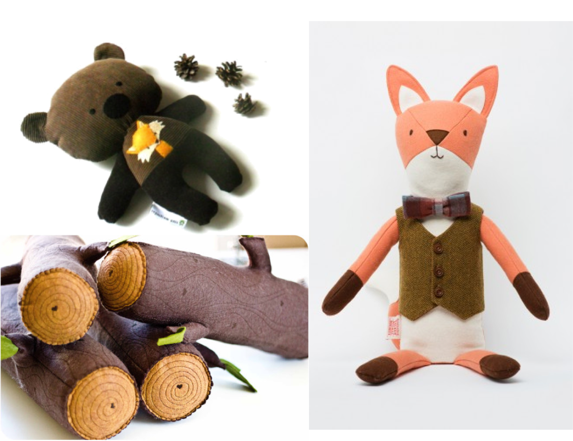 Stuffies fox & bear